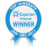 Top 10 Experian Hitwise website - Winner Jan-Dec 2011