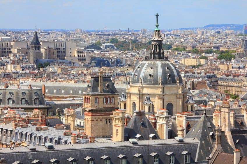 Paris Skyline including the University of Paris (Sarbonne)